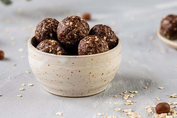 Energy balls with choclate