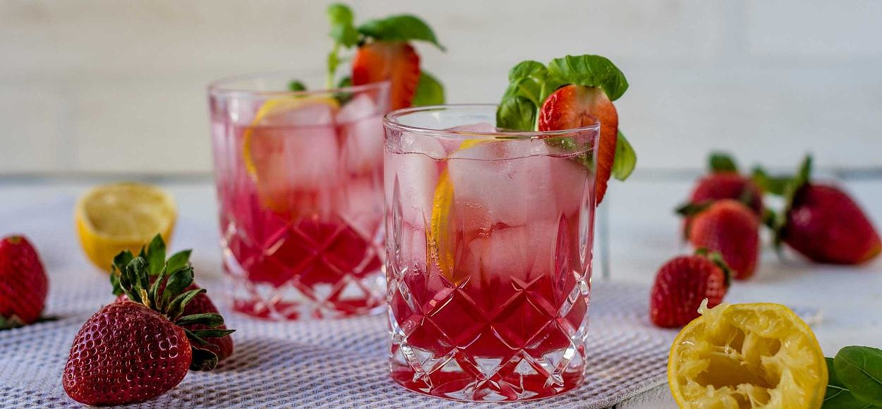 Lemonade strawberry syrup