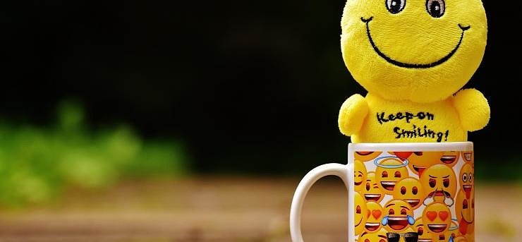 cup with smiles