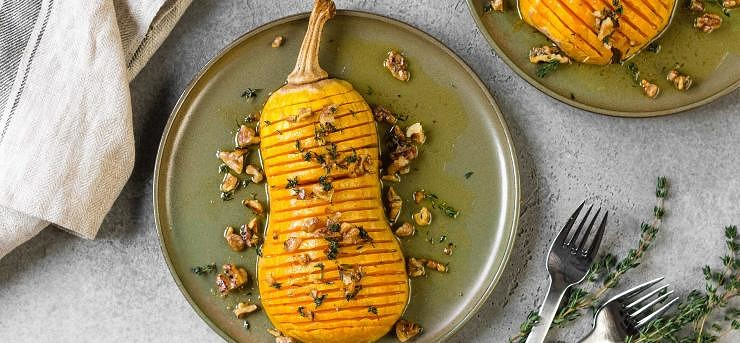 Baked squash with thyme